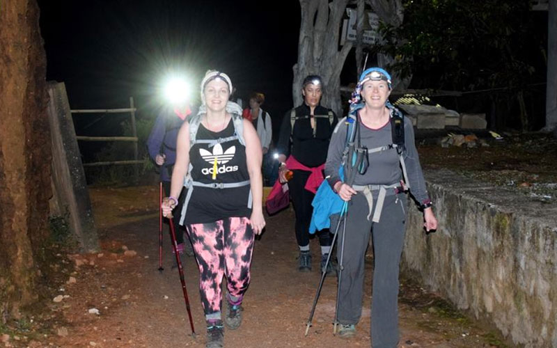 hike to Adams peak via Peak Wilderness sanctuary, Sri pada hiking