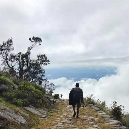 Hiking & trekking in Devil's Stair Case trail to Ohiya
